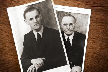 Franz Kloppenborg Junior, im Hintergrund Franz Kloppenborg Senior